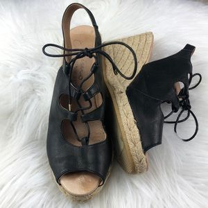 Anthropologie Gaimo handmade wedge Espadrilles